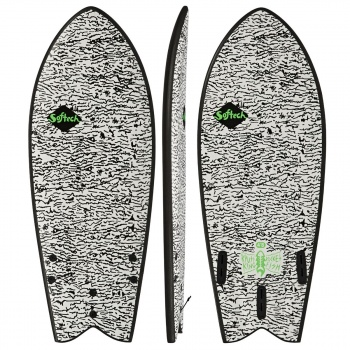 Softech SOFTECH KYUSS PERFORMANCE FCSII FISH SURFBOARD WHITE