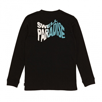 Swell SWELL BOY'S WARPED LONG SLEEVE T-SHIRT BLACK