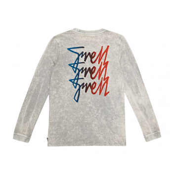 Swell SWELL STACKER LONG SLEEVE T-SHIRT GREY ACID