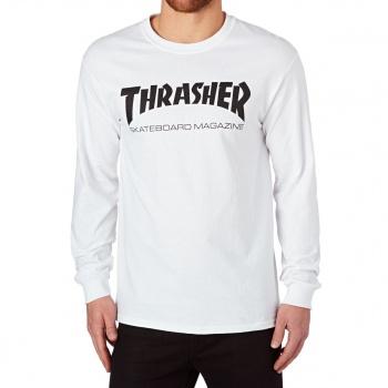 Thrasher THRASHER SKATE MAG LONG SLEEVE T SHIRT WHITE