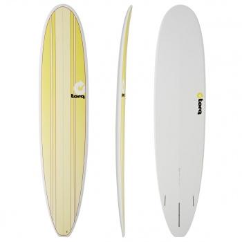 Torq TORQ LONG NEW CLASSIC SURFBOARD YELLOW STRIPES / PINLINE