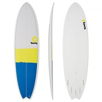 Torq TORQ MOD FISH NEW CLASSIC SURFBOARD BLUE / YELLOW / GREY