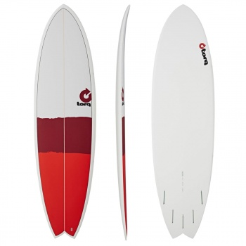Torq TORQ MOD FISH NEW CLASSIC SURFBOARD RED / RED / GREY