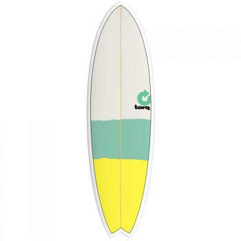Torq Torq Mod Fish Surfboard 5FT 11 New Classic Stripe