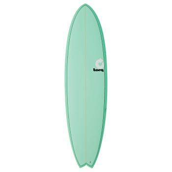 Torq TORQ MOD FISH SURFBOARD SEA GREEN / PINLINE