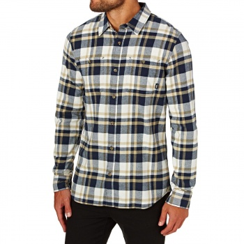 Vans VANS BANFIELD II  LONG SLEEVE SHIRT- DRESS BLUES/MARSHMALLOW