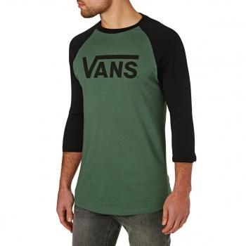 Vans VANS CLASSIC RAGLAN LONG SLEEVE T-SHIRT DARK FOREST/BLACK