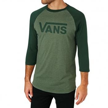 Vans VANS CLASSIC RAGLAN LONG SLEEVE T-SHIRT OLIVE HEATHER/ VANS SCARAB