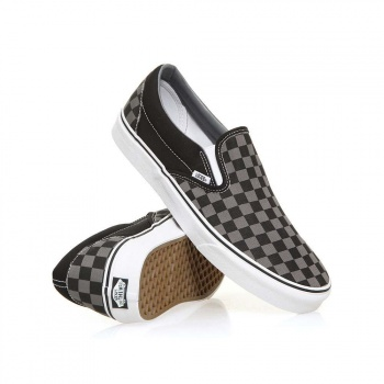 Vans Vans Classic Slip On Shoes Black/Pewter Checker