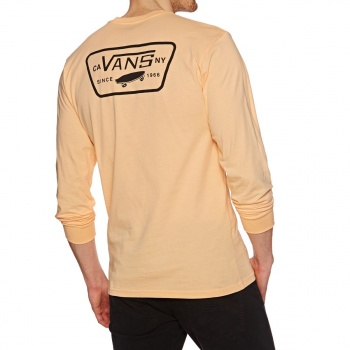 Vans VANS FULL PATCH BACK LONG SLEEVE T-SHIRT APRICOT ICE-BLACK
