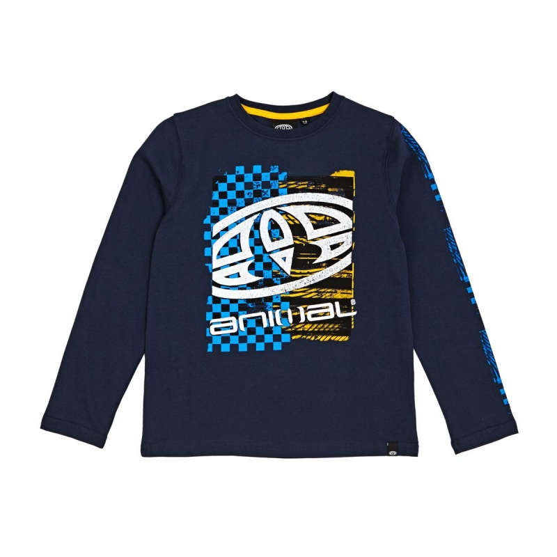ANIMAL BOARD LONG SLEEVED T-SHIRT DARK NAVY