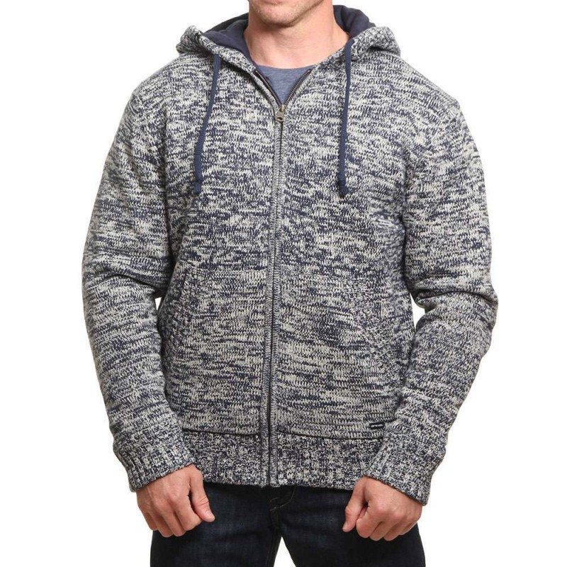 Animal Coldwater Knitted Hoody Stone Grey
