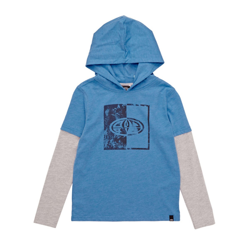 ANIMAL FINDER LONG SLEEVED T-SHIRT MALIBU BLUE MARL