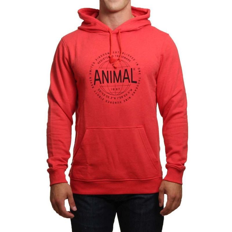 Animal Hills Hoody Mars Red Marl