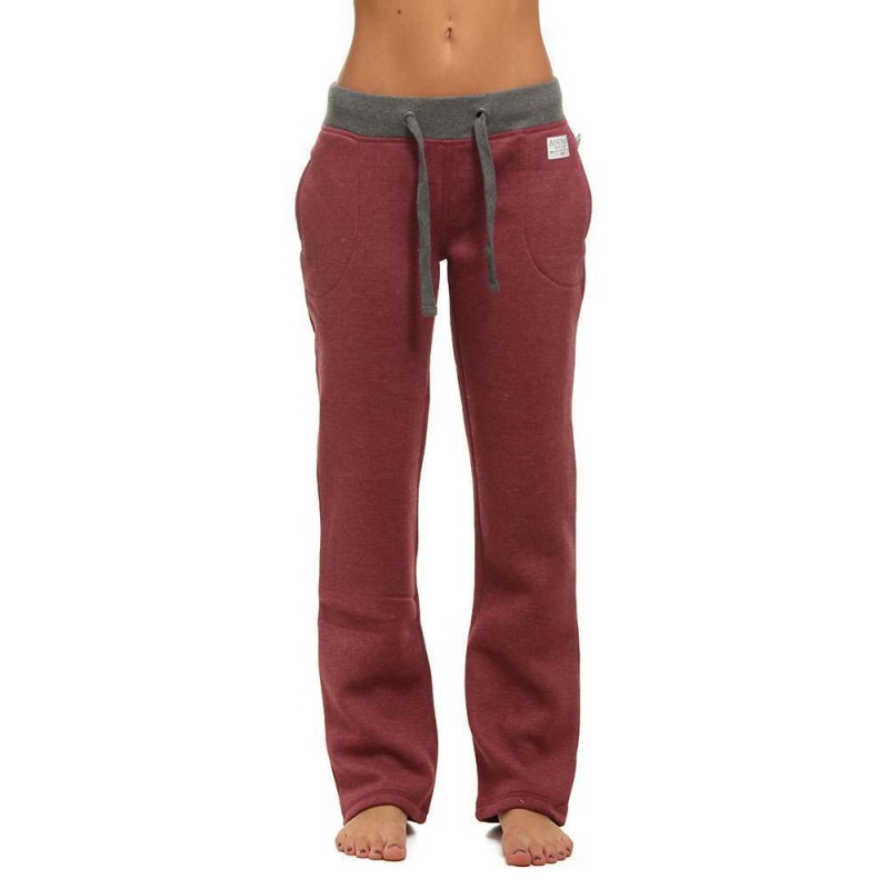 Animal Lounger Track Pants Bordeaux Red Marl