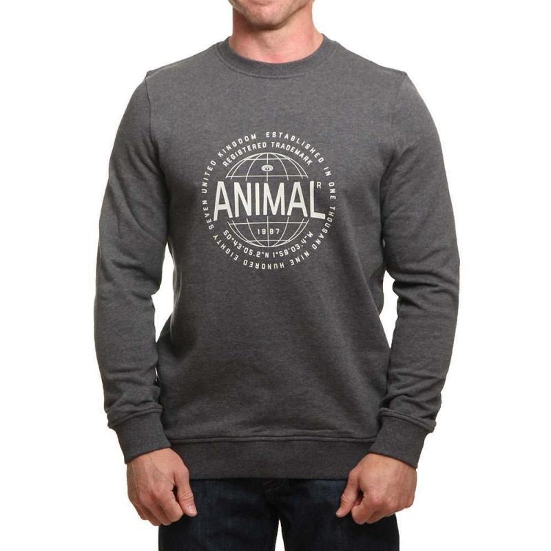 Animal Vardy Crew Dark Charcoal Marl