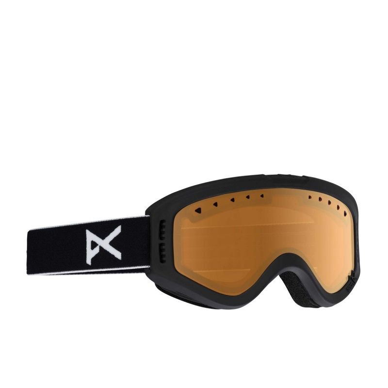 ANON TRACKER KIDS. BLACK SNOW GOGGLES AMBER