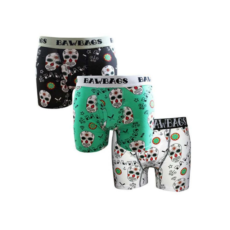 BAWBAGS 3 PACK BOXERS Day Of The Dead