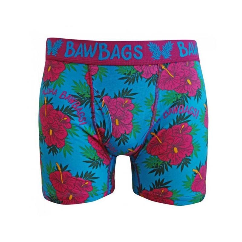 Bawbags Aloha Boxers Blue