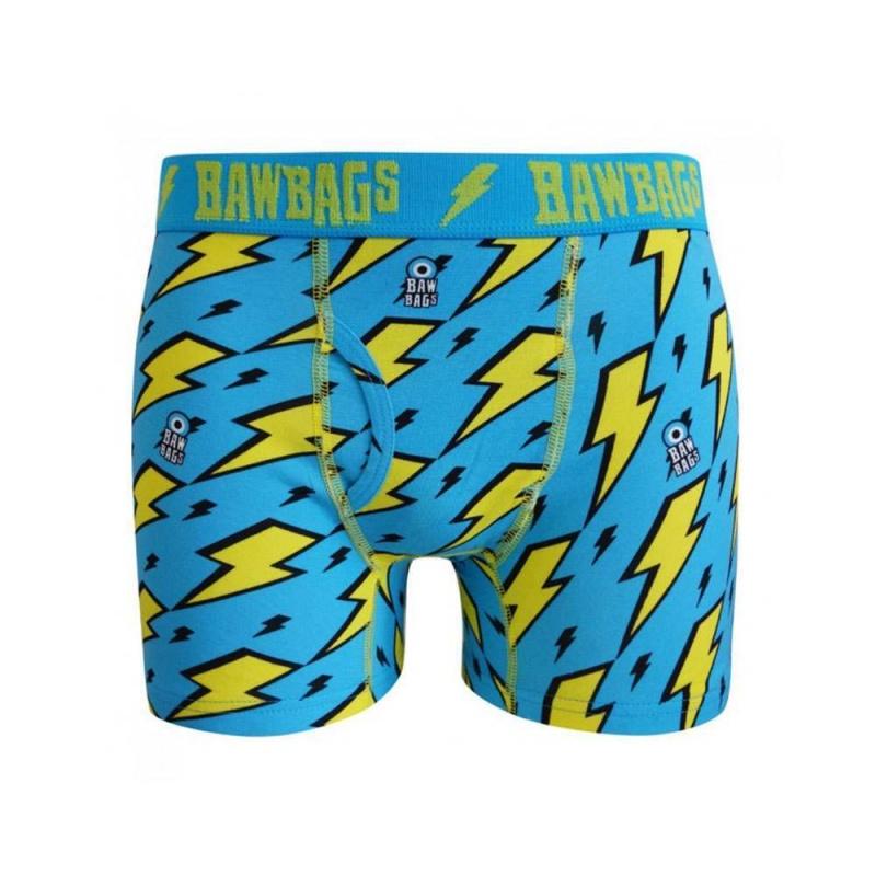 Bawbags Lightning Boxers Blue/Yellow