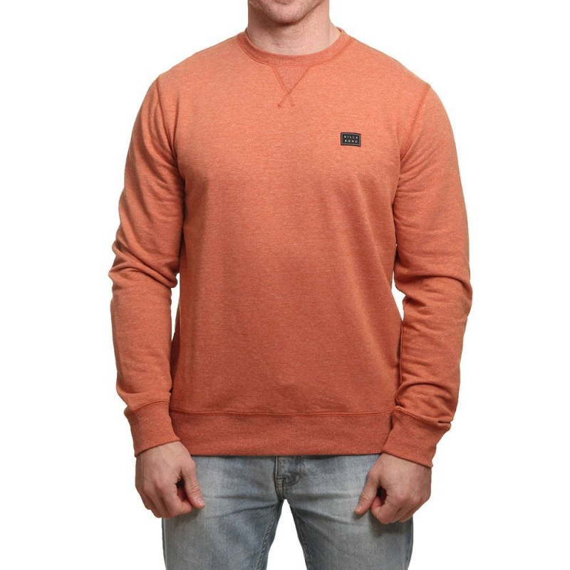 Billabong All Day Crew Burnt Orange Heather