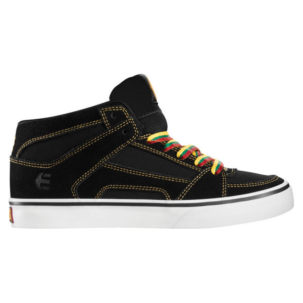 ETNIES BOYS KIDS RVM VULC SKATE SHOES BLACK ORANGE KIDS UK 2