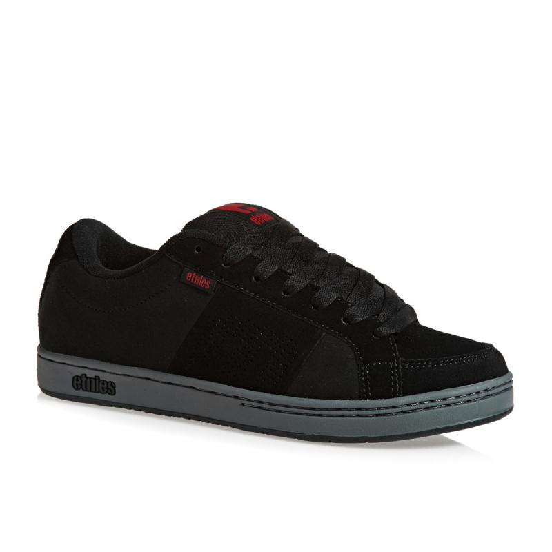 ETNIES KINGPIN SHOES BLACK/CHARCOAL/RED