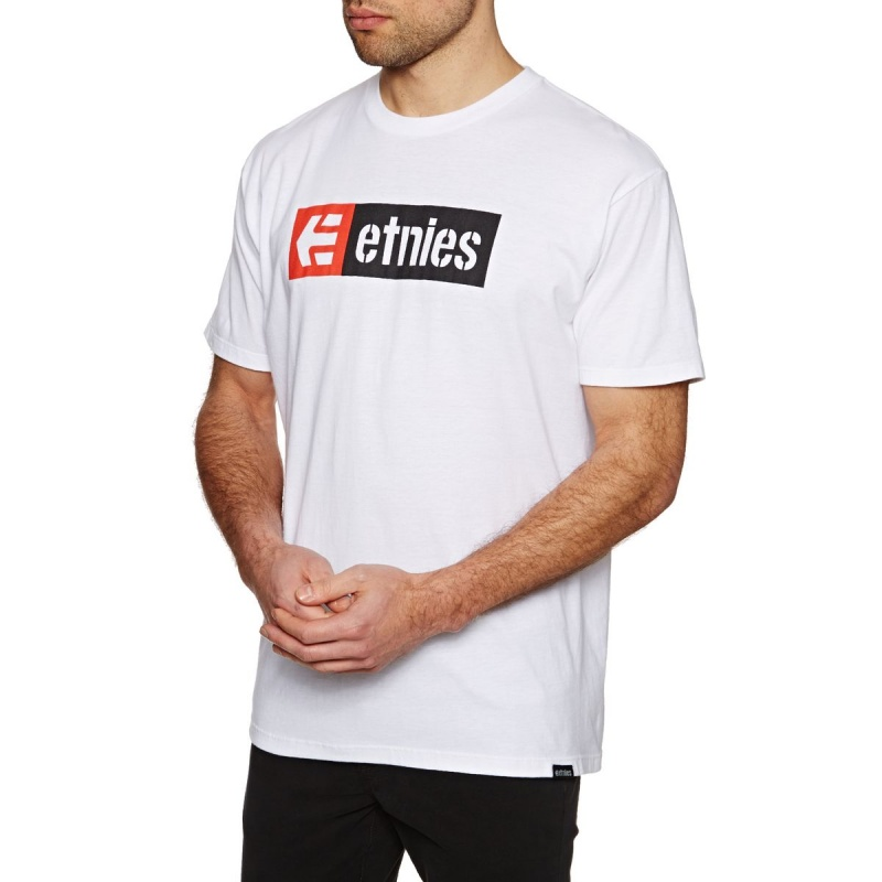 ETNIES NEW BOX T-SHIRT WHITE