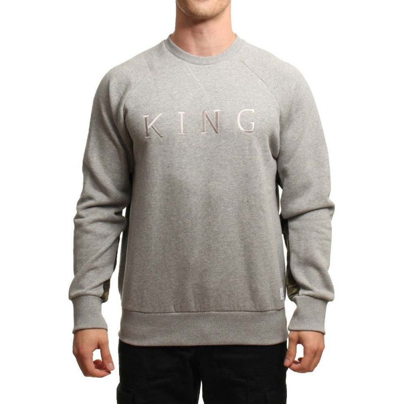 KING APPAREL REGAL CREW Grey