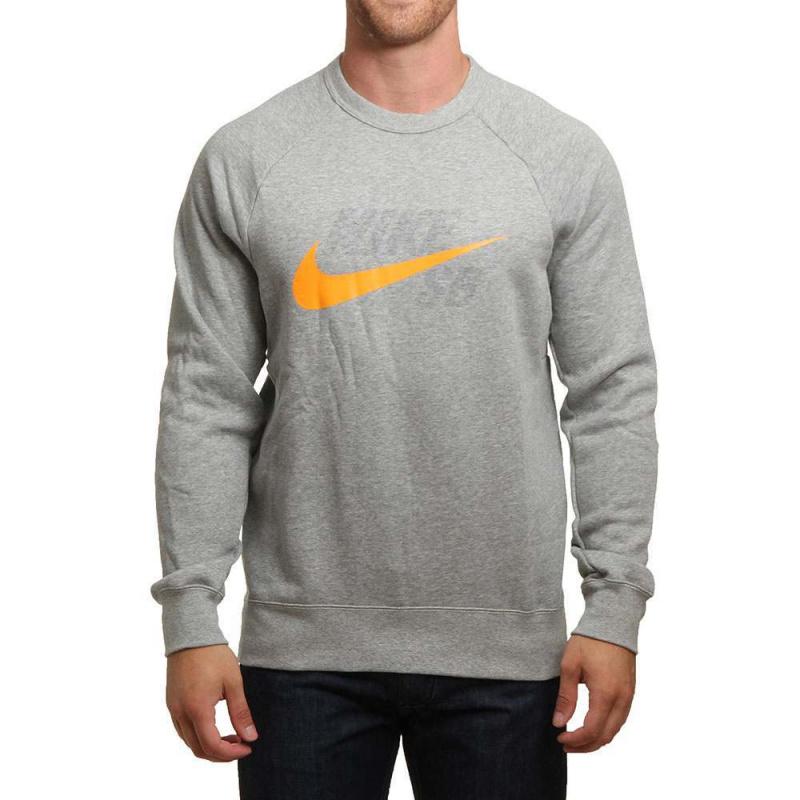 Nike SB Icon Graphic Crew Grey/Orange