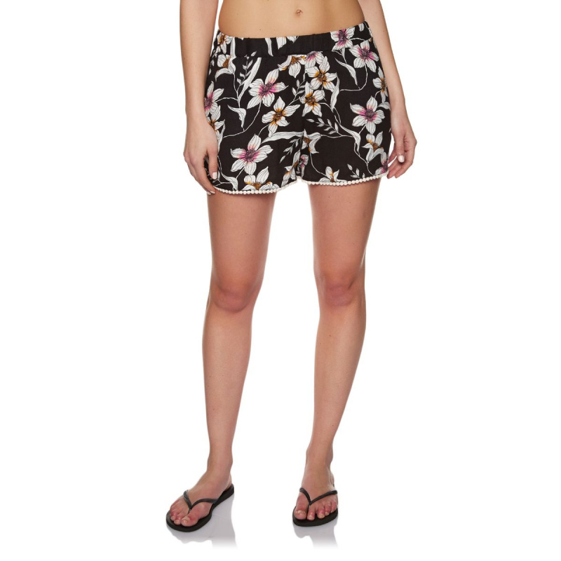 O'NEILL BEACH SHORTS BLACK AOP W/ PINK