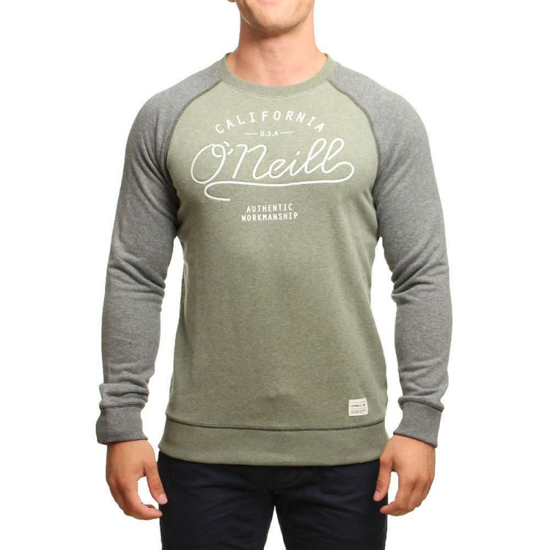 ONeill PCH Crew Sweatshirt Olive Leaves