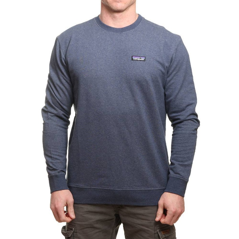 Patagonia P6 Label Midweight Crew Classic Navy