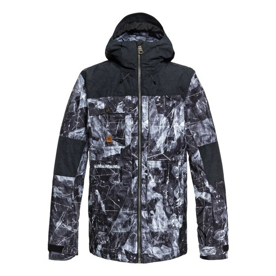 QUIKSILVER ARROW WOOD-SNOW JACKET FOR MEN-BLACK