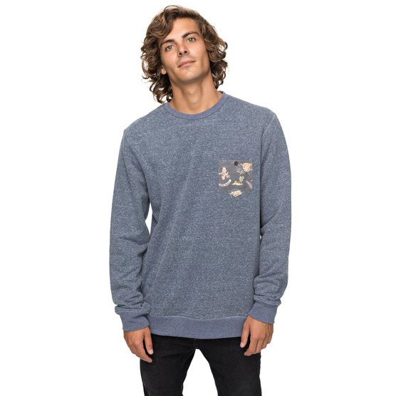 QUIKSILVER BUCKMANN-SWEATSHIRT FOR MEN-BLUE