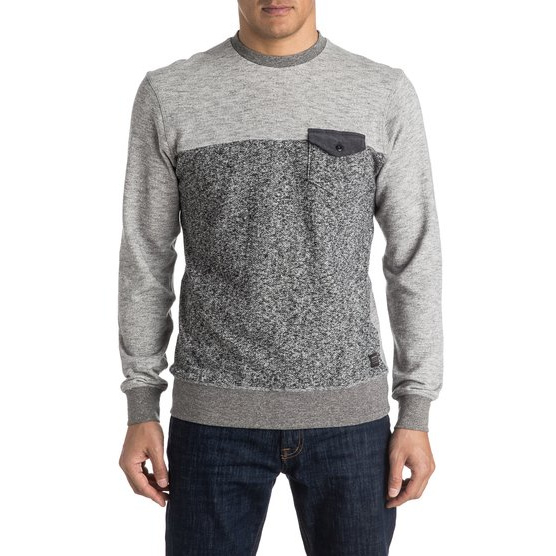 QUIKSILVER GONE BAD-SWEATSHIRT FOR MEN-BLACK