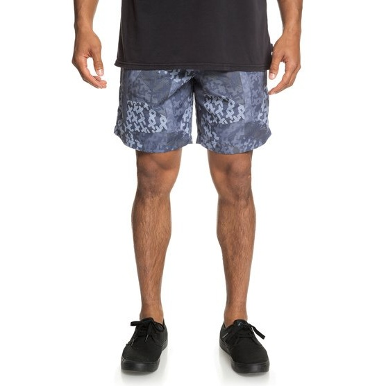 QUIKSILVER ORIGINALS-ELASTICATED SHORTS FOR MEN-BLUE