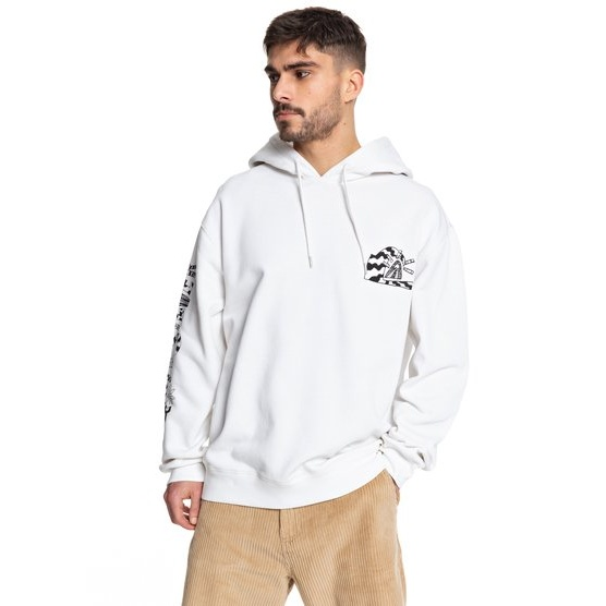 QUIKSILVER POSITIVE VIBRATIONS-HOODIE FOR MEN-WHITE