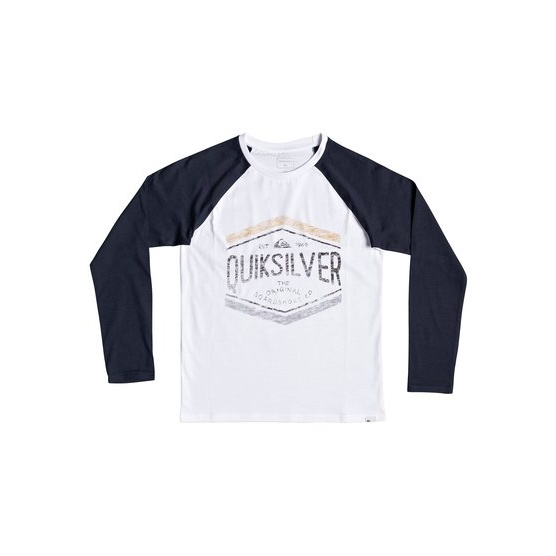QUIKSILVER SKETCHY MEMBER-LONG SLEEVE T-SHIRT FOR BOYS 8-16-BLUE