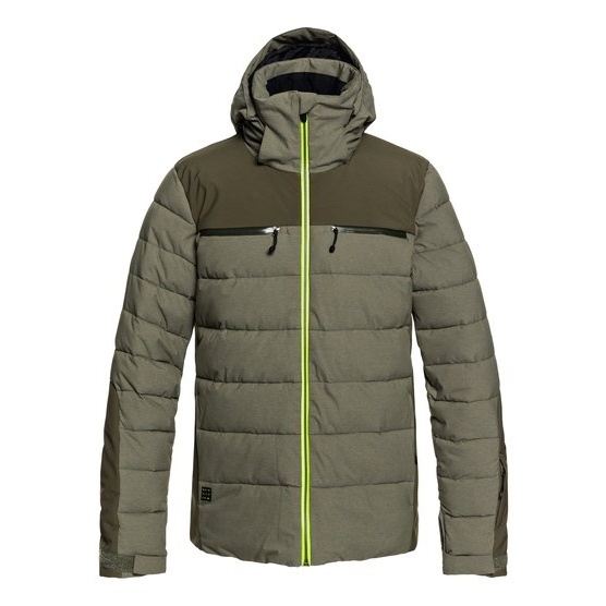 QUIKSILVER THE EDGE-PUFFER SNOW JACKET FOR MEN-BROWN
