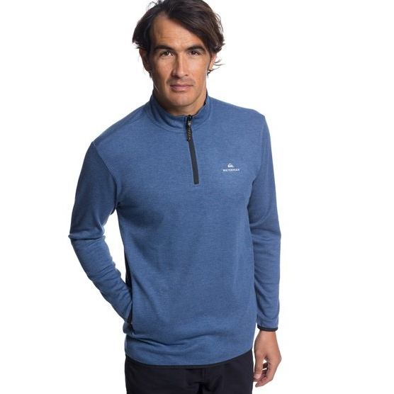 QUIKSILVER WATERMAN SEA EXPLORER-TECHNICAL HALF-ZIP SWEATSHIRT FOR MEN-BLUE