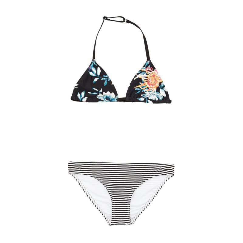 RIP CURL WILD FLOWER BASIC TRI SET BIKINI BLACK