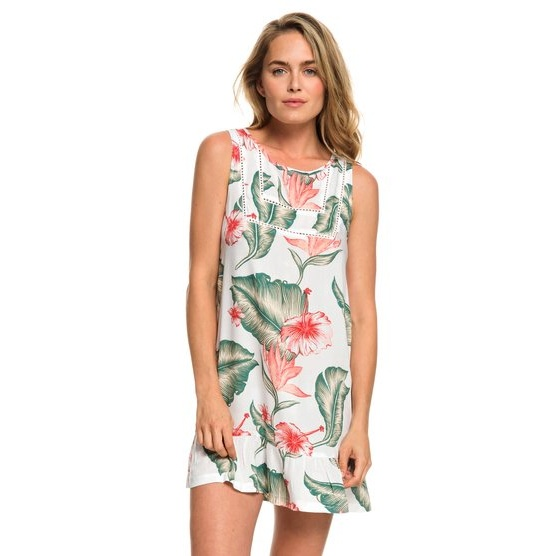 ROXY ALL ABOUT THE SEA DRESS-TANK DRESS FOR WOMEN-WHITE