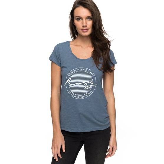 ROXY BOBBY TWIST PARADISE-T-SHIRT FOR WOMEN-BLUE