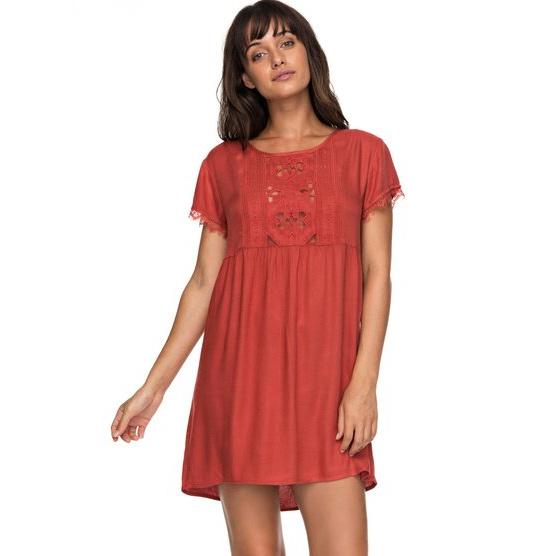 ROXY DARK TO LIGHT-SHORT SLEEVE DRESS FOR WOMEN-ORANGE