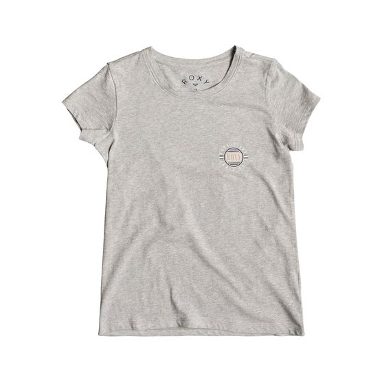 ROXY DREAM ANOTHER DREAM CIRCLE SCRIP-T-SHIRT FOR GIRLS 8-16-GREY