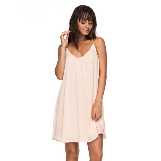 ROXY GREAT INTENTIONS-STRAPPY DRESS FOR WOMEN-PINK