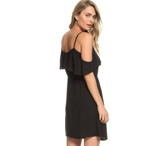 ROXY HOT SPRING STREETS-STRAPPY DRESS FOR WOMEN-BLACK