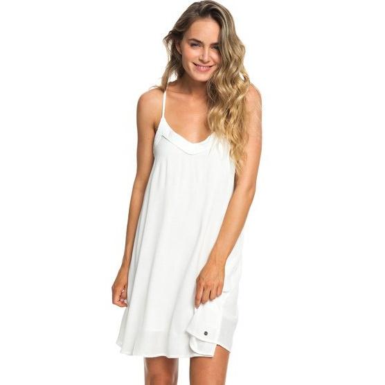 ROXY OFF WE GO-STRAPPY DRESS FOR WOMEN-WHITE