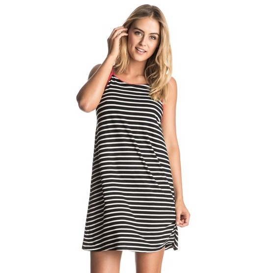 ROXY SEE YOU SOMETIME-STRAPPY DRESS FOR WOMEN-BLACK